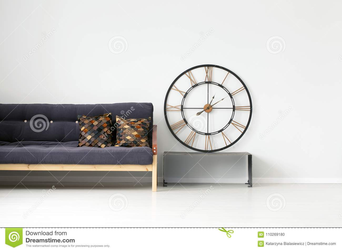 Enjoyable Gold Round Clock In Room Stock Photo Image Of Bright Gmtry Best Dining Table And Chair Ideas Images Gmtryco