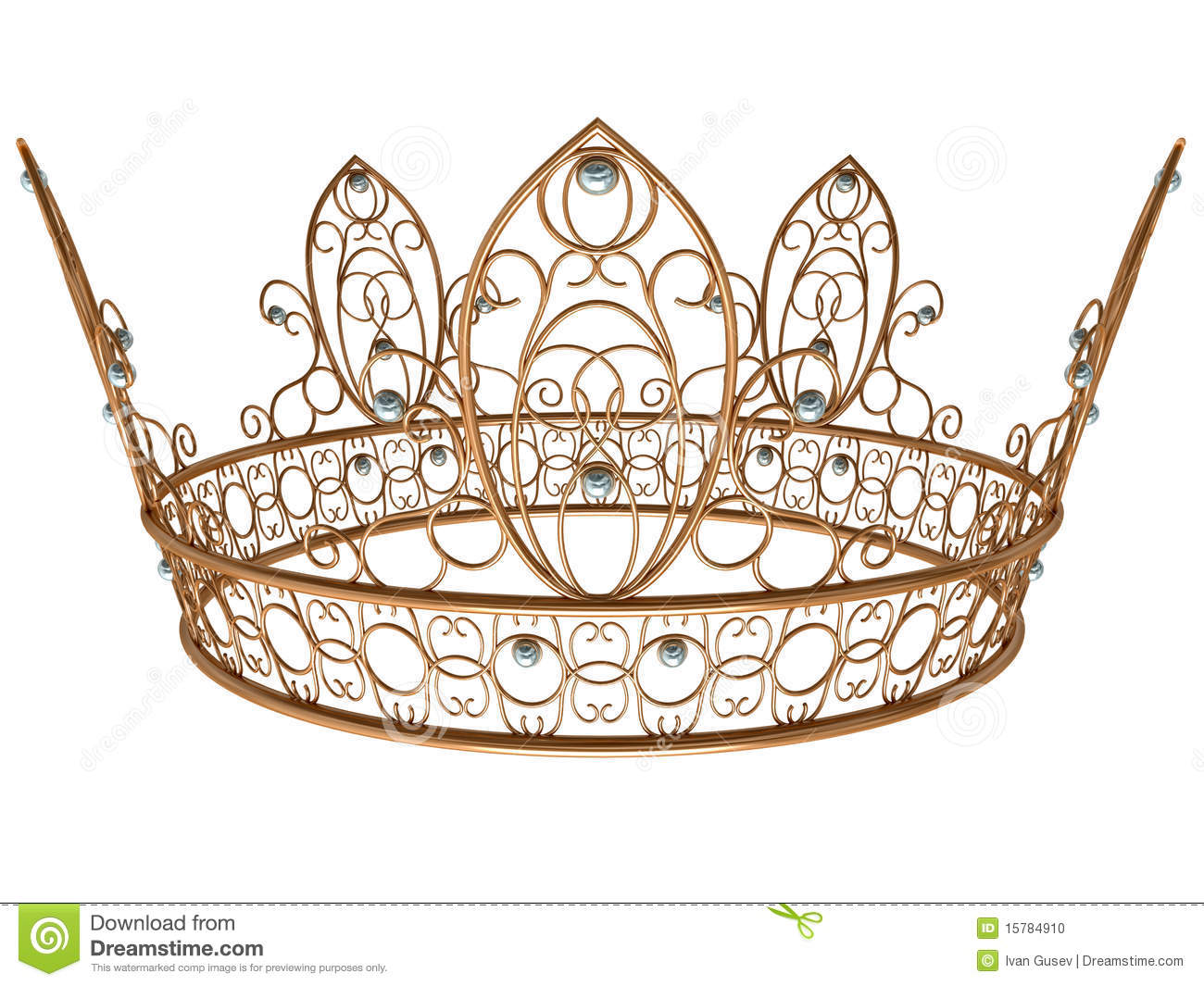 Gold Royal Crown Stock Photo - Image: 15784910