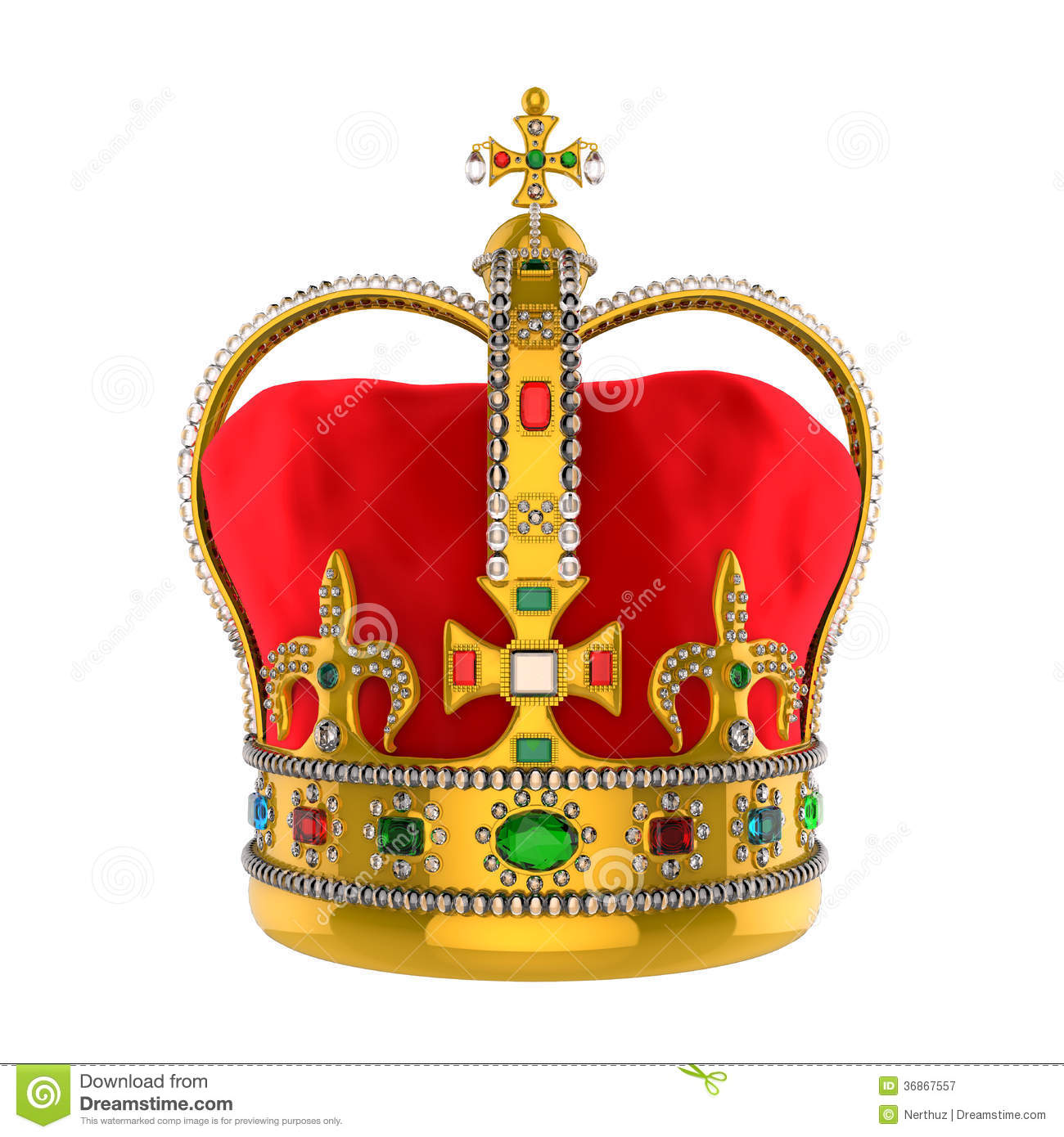Gold Royal Crown With Jewels Stock Illustration Image