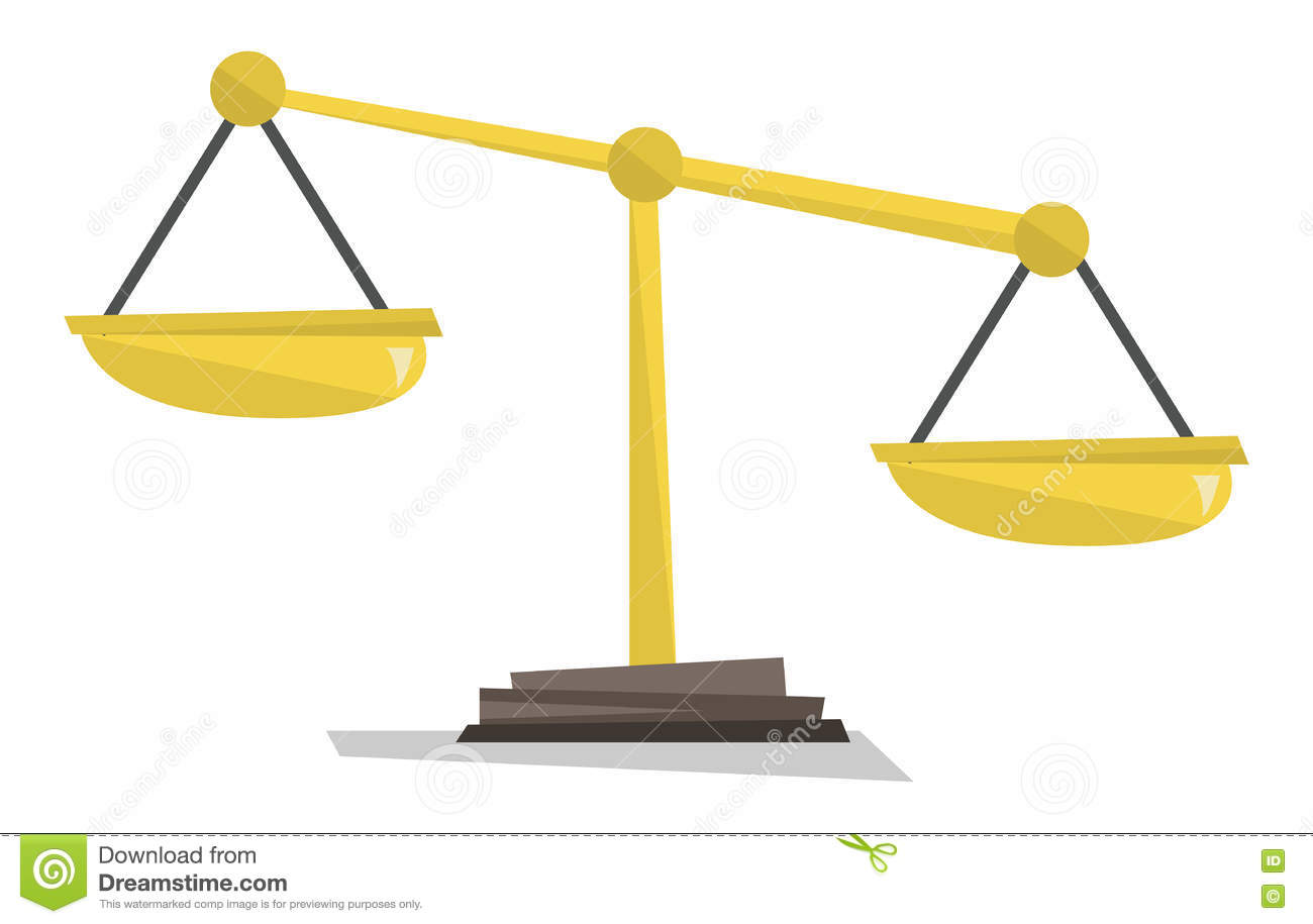 gold scales of justice vector illustration stock vector rh dreamstime com
