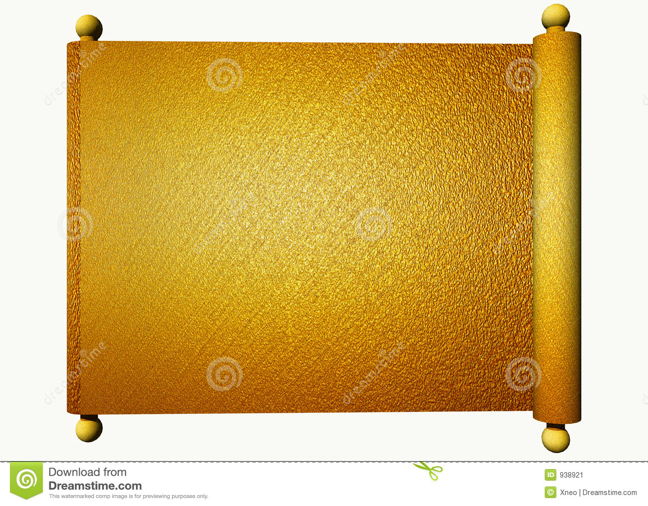 Gold Scroll Stock Image Image 938921