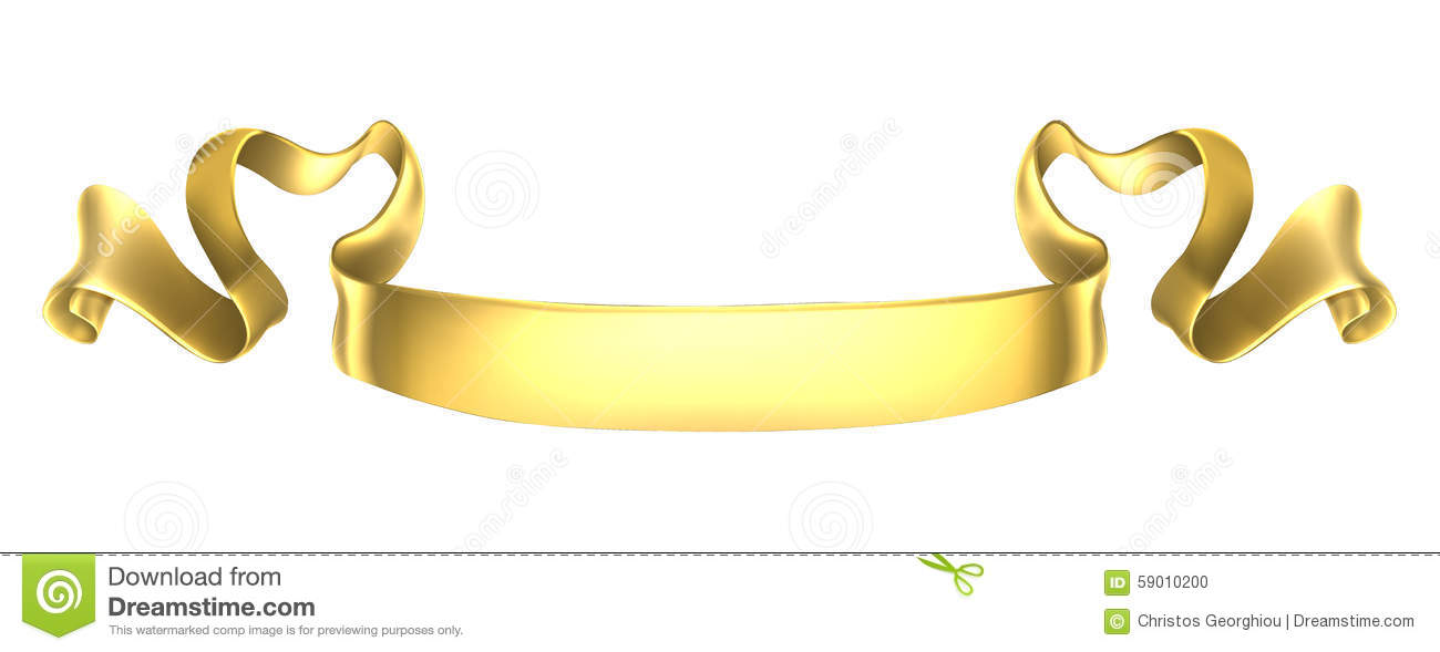gold scroll banner stock vector illustration of heraldic 59010200