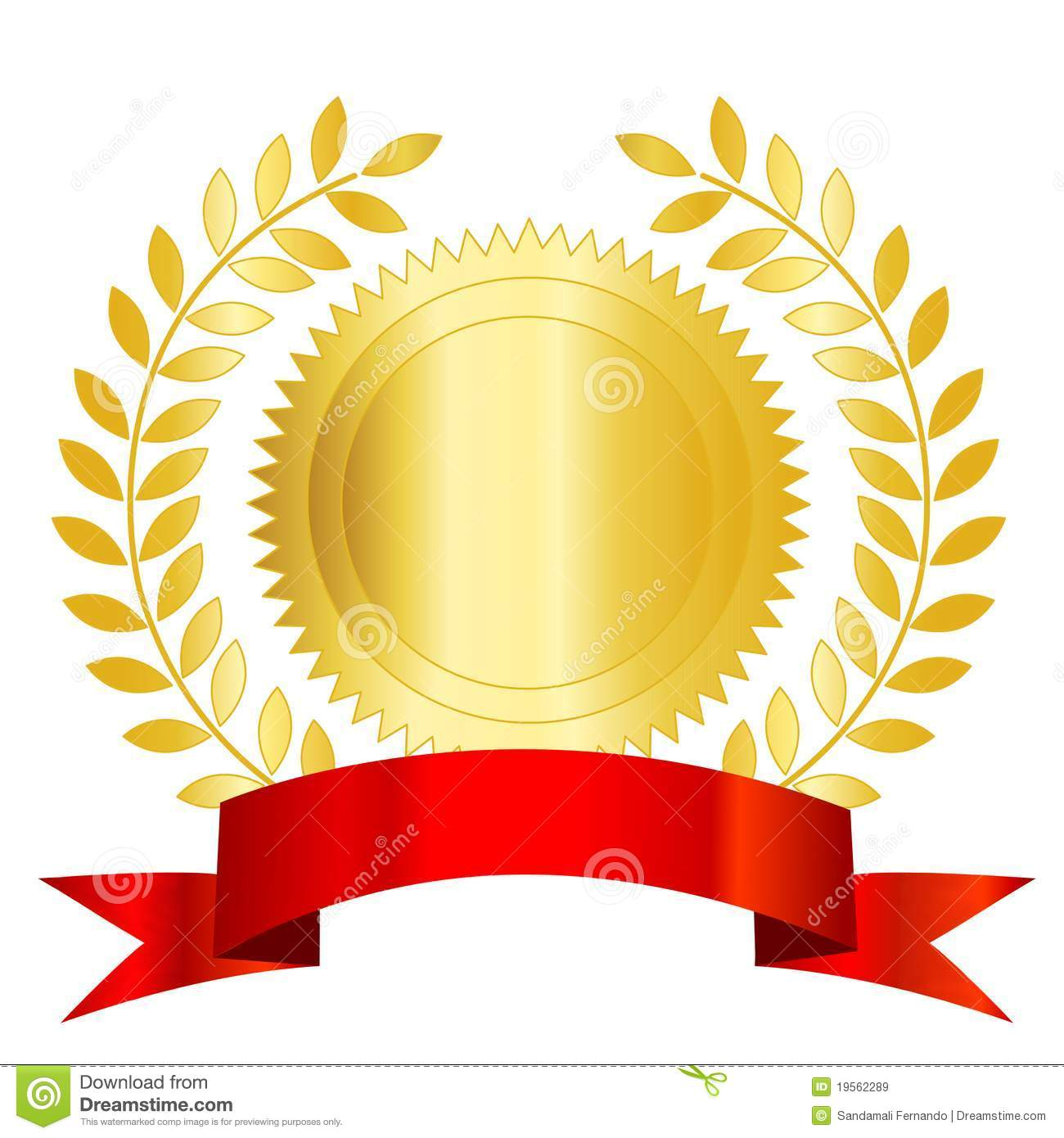 Gold And Red Seal With Ribbon Stock Vector Image: 39007201 - 1300x1390 ...