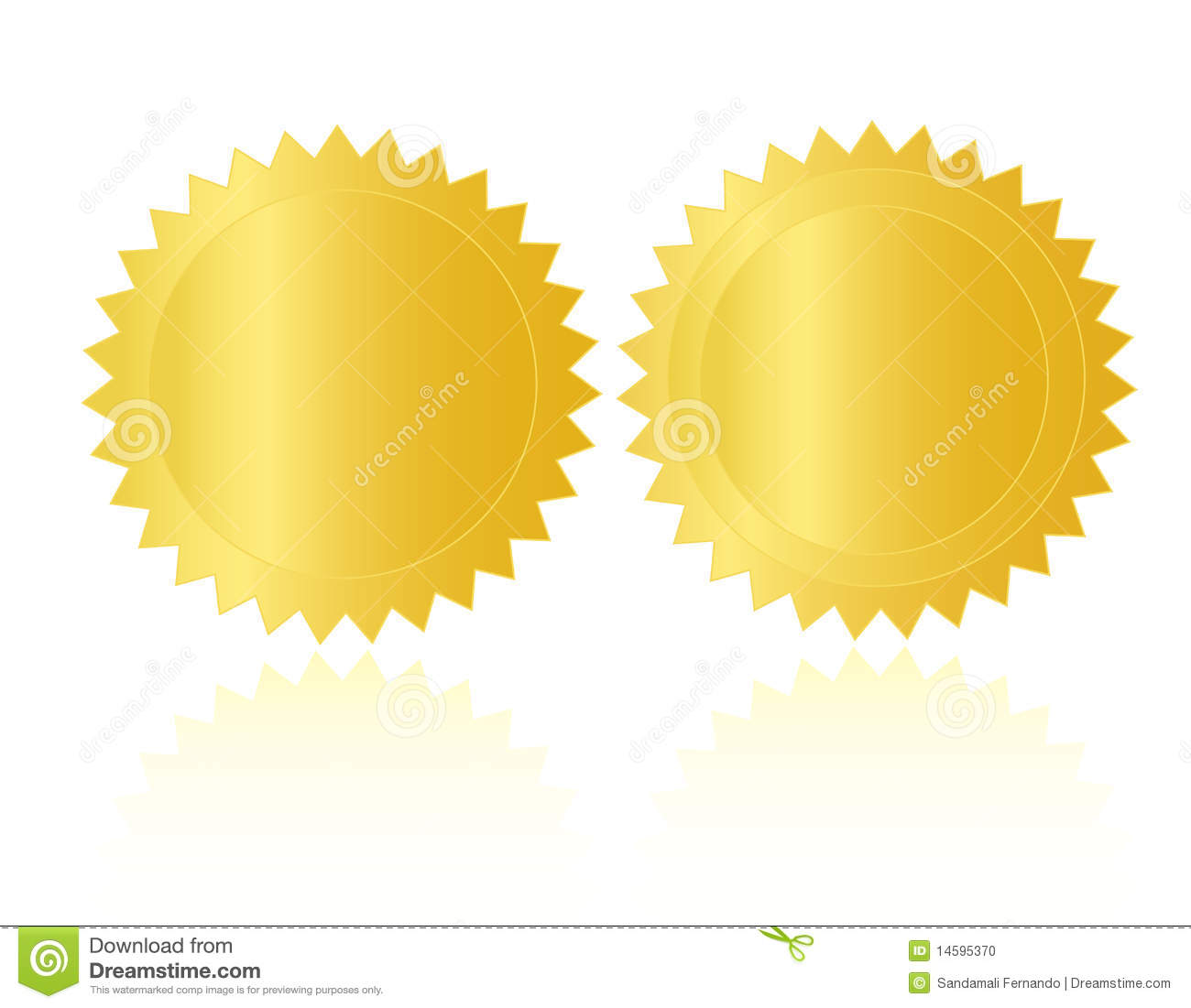 Gold Seal /Stamp /Medal Blank Stock Vector - Image: 14595370
