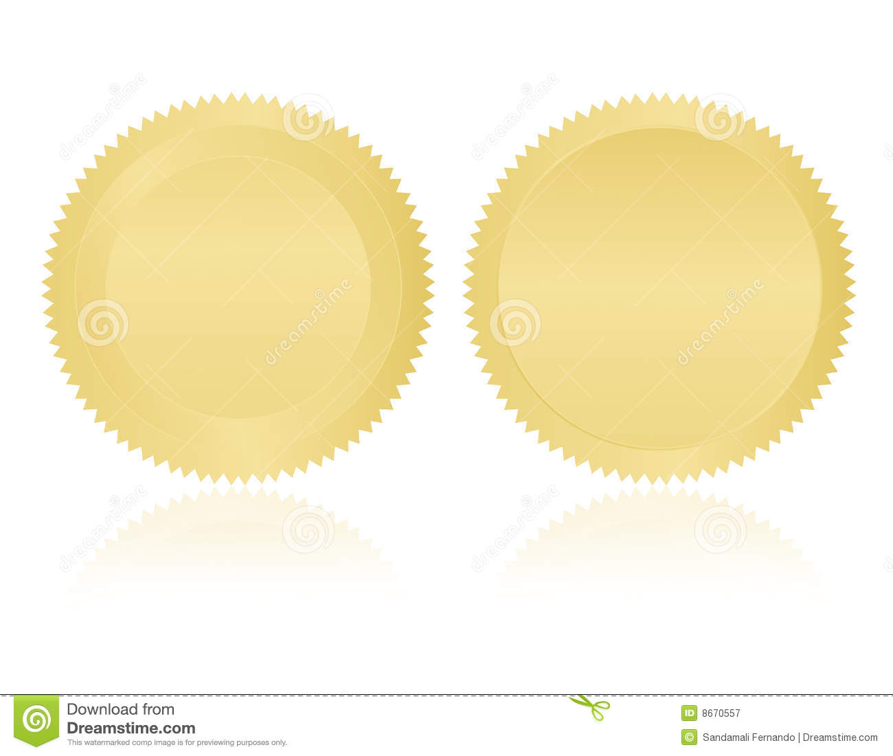 gold seal   stamp   medal blank royalty free stock