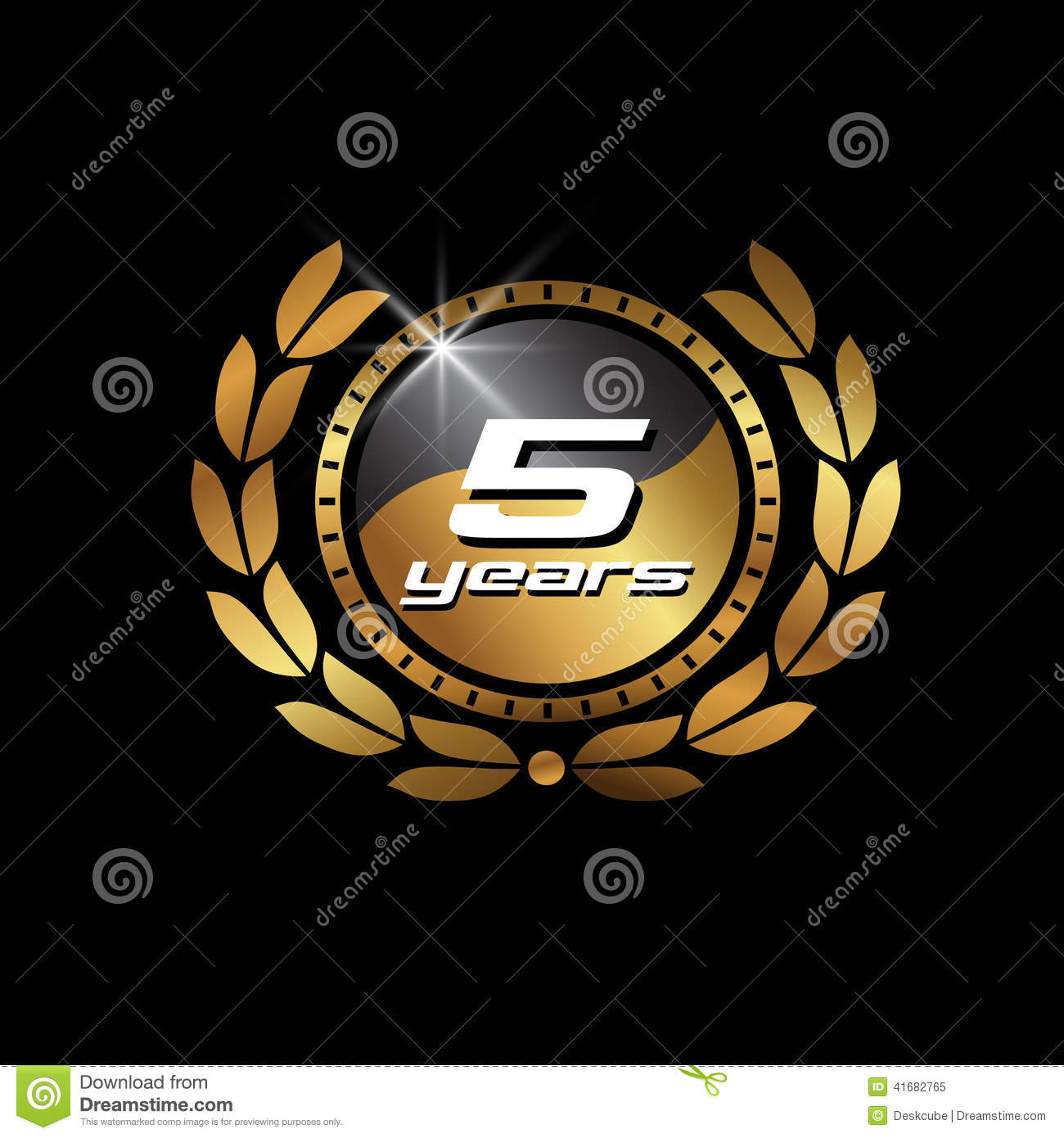 Gold seal 5 years image concept of anniversary stock vector gold seal 5 years image concept of anniversary biocorpaavc Gallery