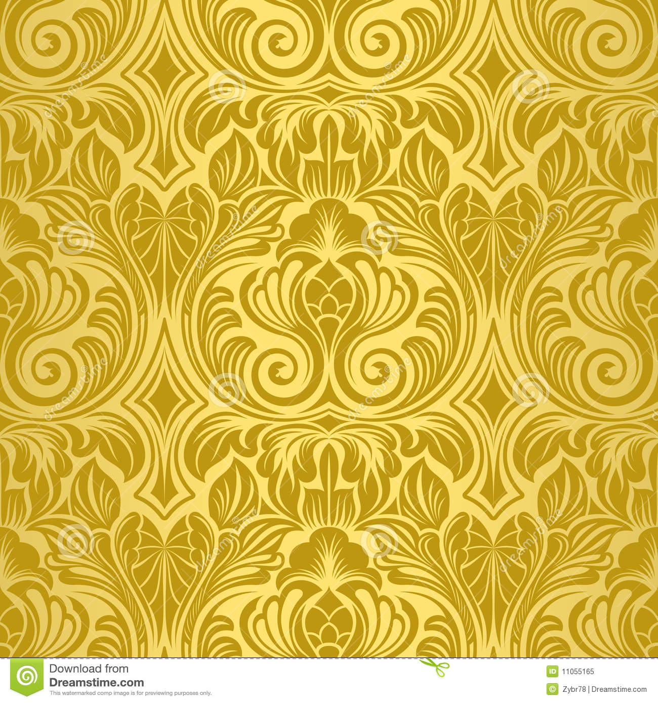Golden Design Wallpaper : Gold seamless wallpaper royalty free stock photo image