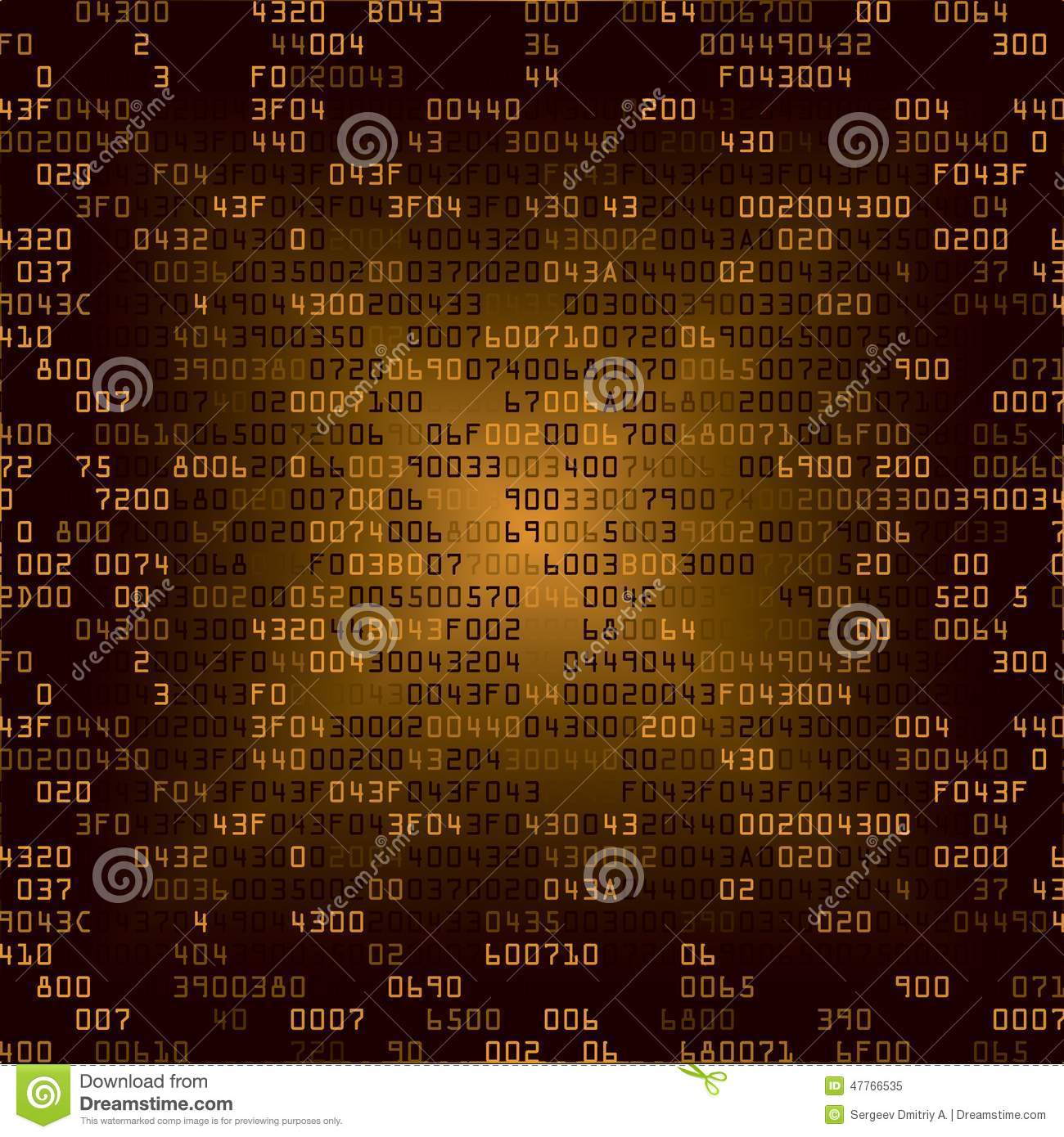 Gold Security Background With HEX-code Stock Vector - Image: 47766535