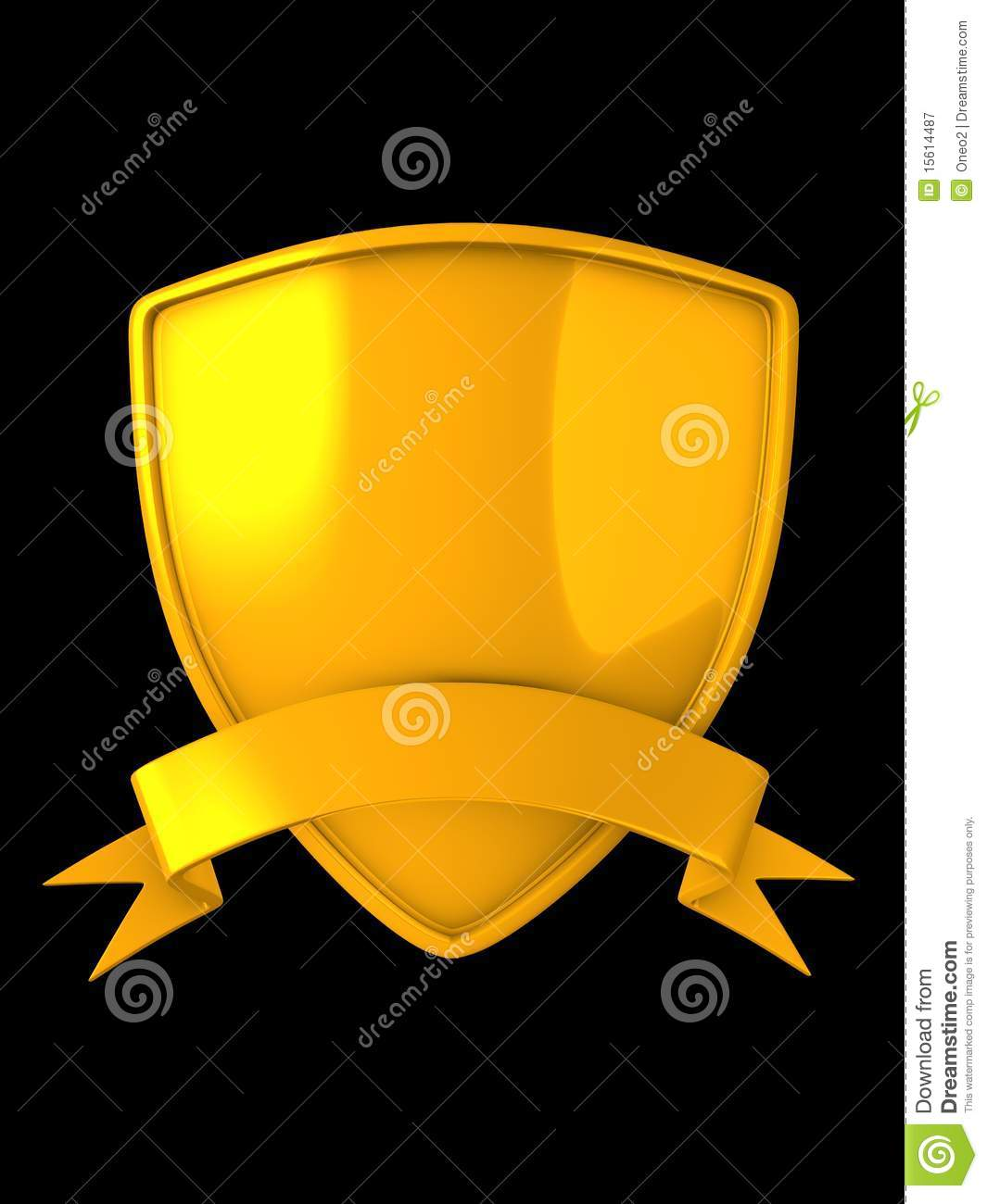 Gold Shield Badge Royalty Free Stock Photography - Image: 15614487