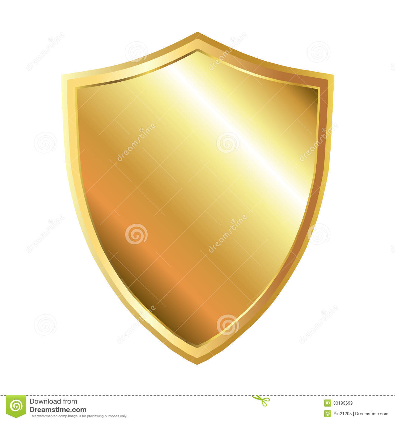 Gold Shield Royalty Free Stock Images - Image: 30193699