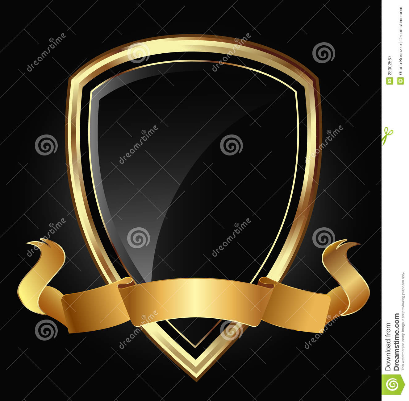 Shield design set royalty free stock photos image 5051988 - Gold Shield And Ribbon Royalty Free Stock Photography