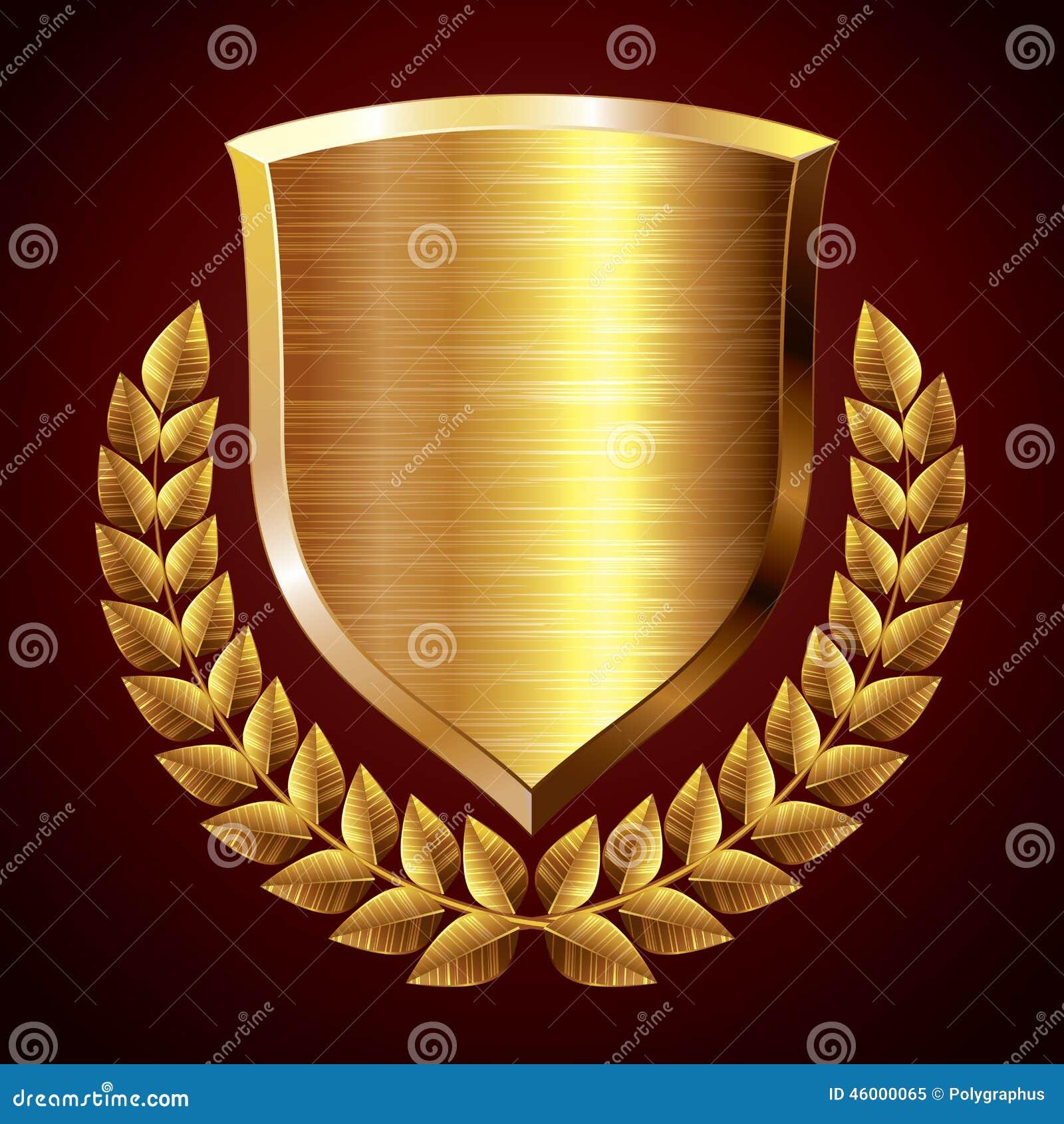 Gold Shield Stock Vector