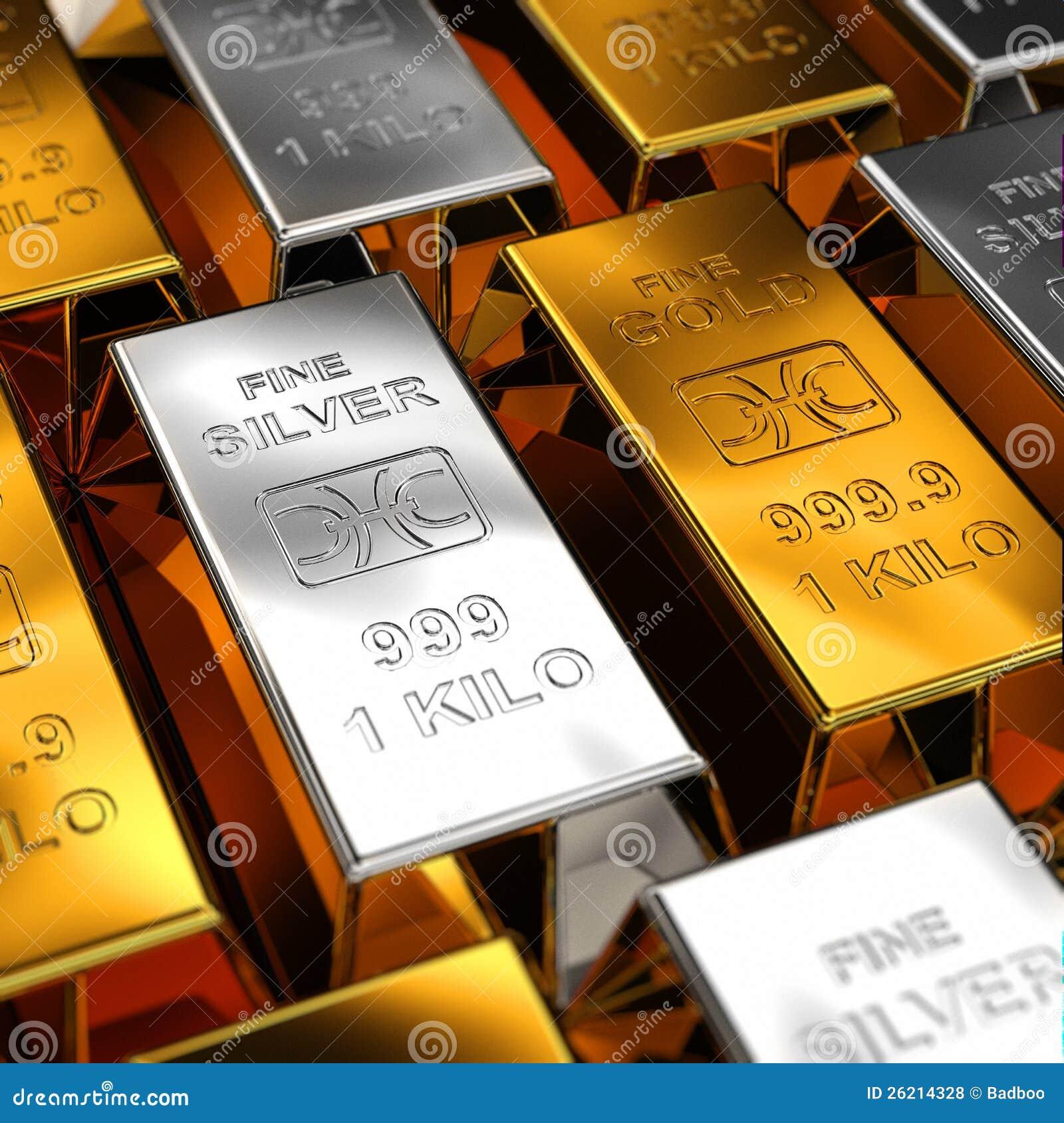 Real silver bars