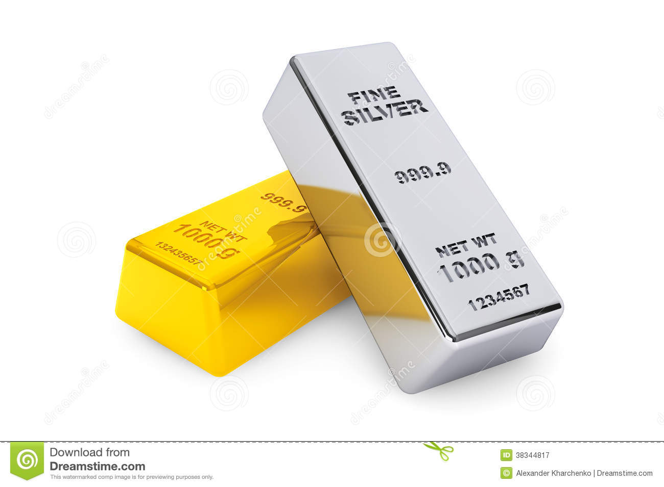 gold and silver bars royalty free stock photography
