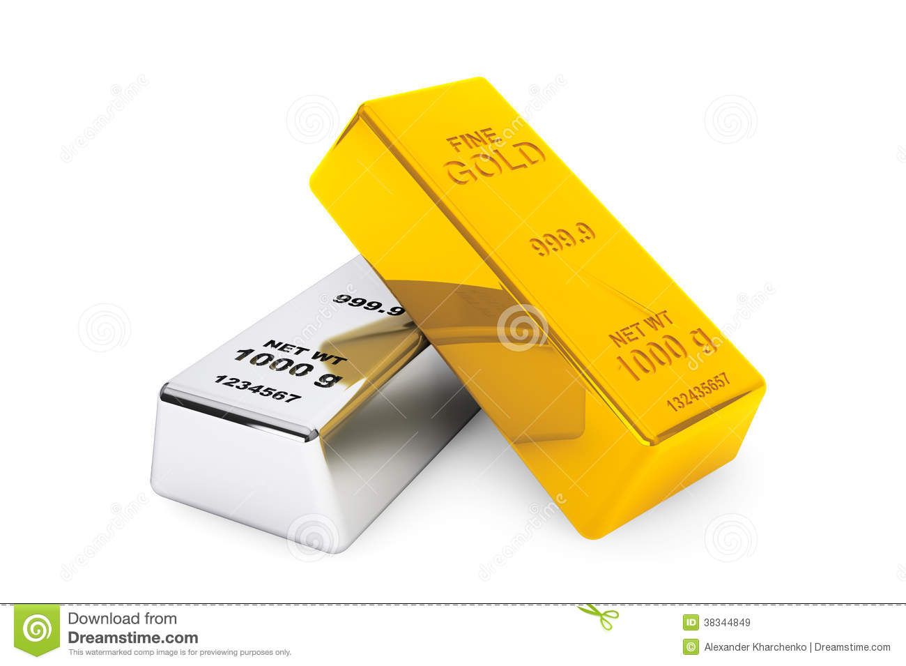 gold and silver bars stock illustration image of graphic