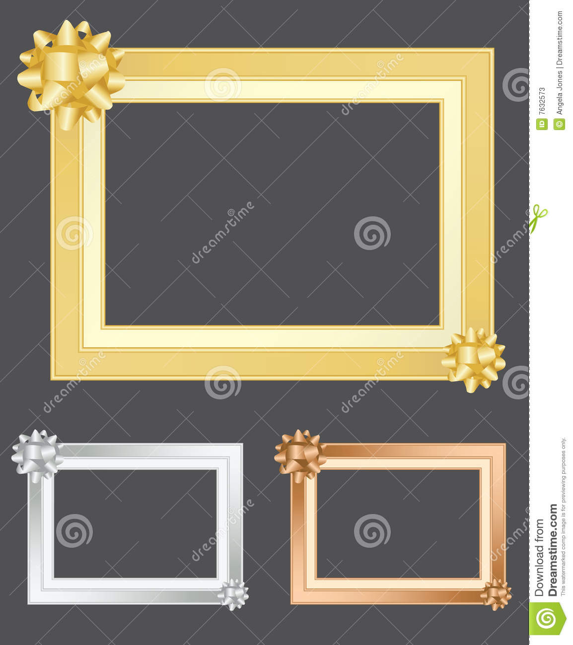 Gold Silver And Bronze Frames Stock Vector Illustration Of Inlay
