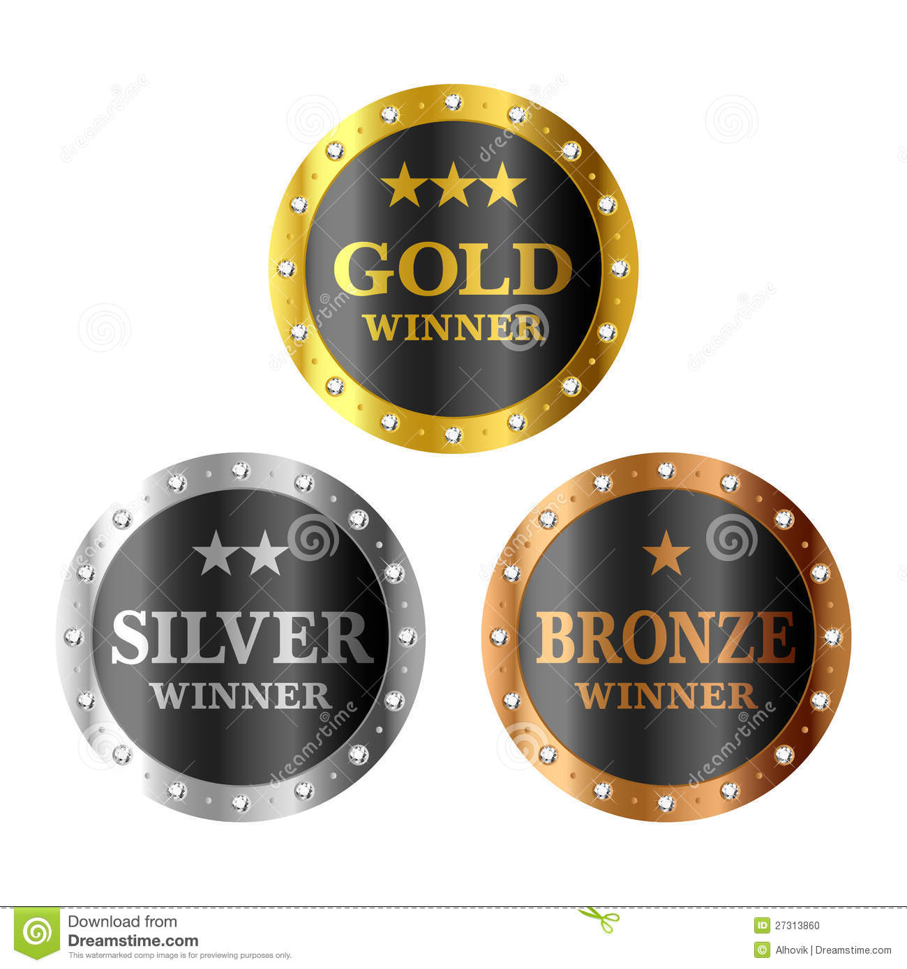 gold silver and bronze winner medals stock photo image. Black Bedroom Furniture Sets. Home Design Ideas