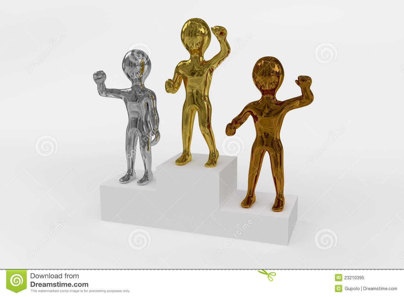 gold silver and bronze winners podium stock illustration