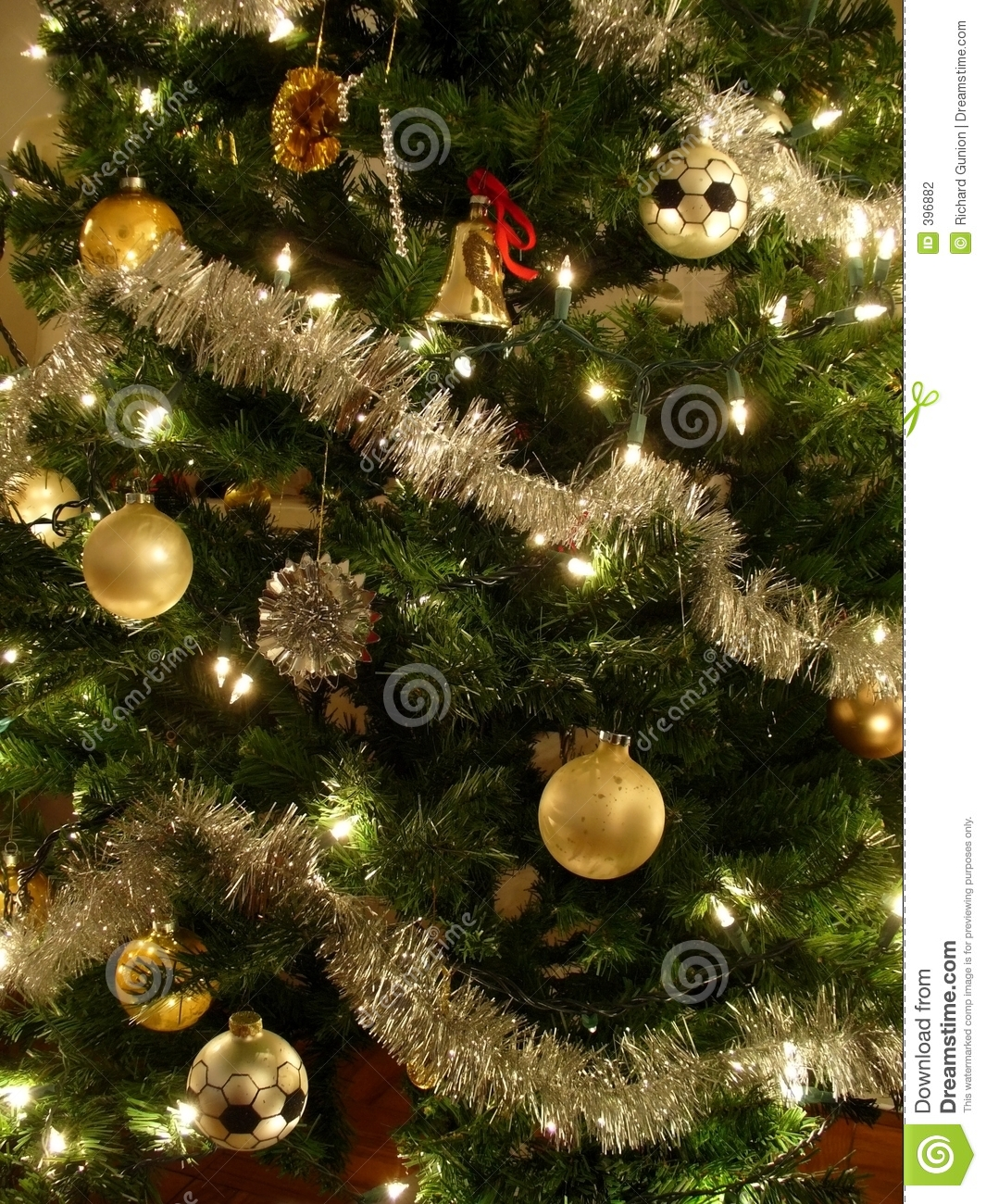 gold and silver christmas tree - Silver And Gold Christmas Tree Decorations