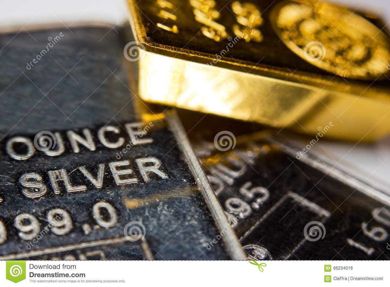 Gold Silver And Palladium Bar Stock Photo Image Of Fund