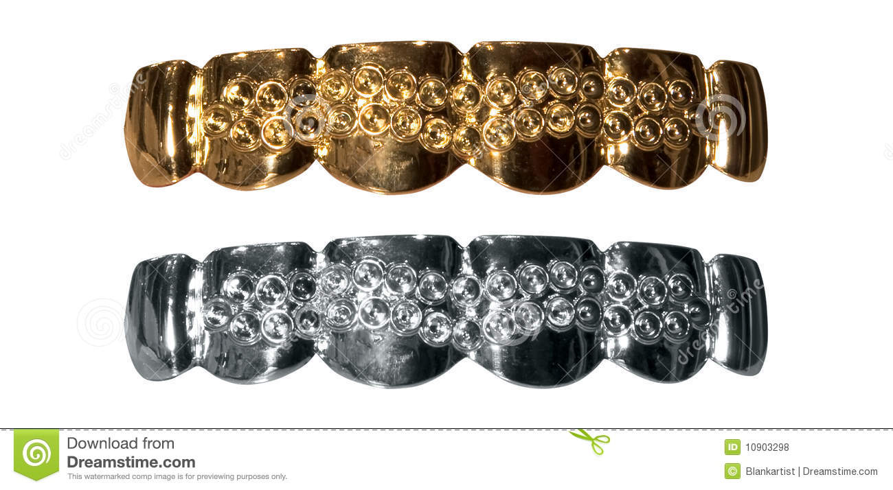 Gold And Silver Teeth Royalty Free Stock Photos Image