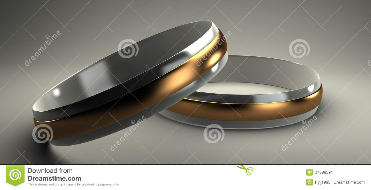 gold and silver wedding rings 3d - Gold And Silver Wedding Rings