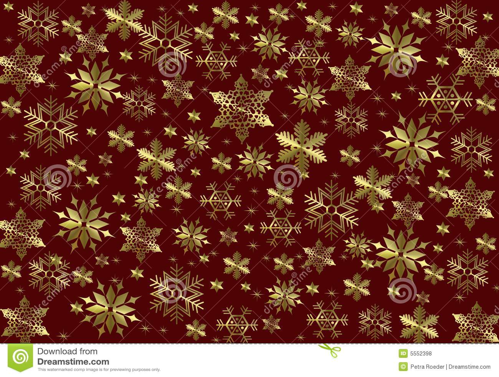 Gold Snowflake Background Royalty Free Stock Photos ...
