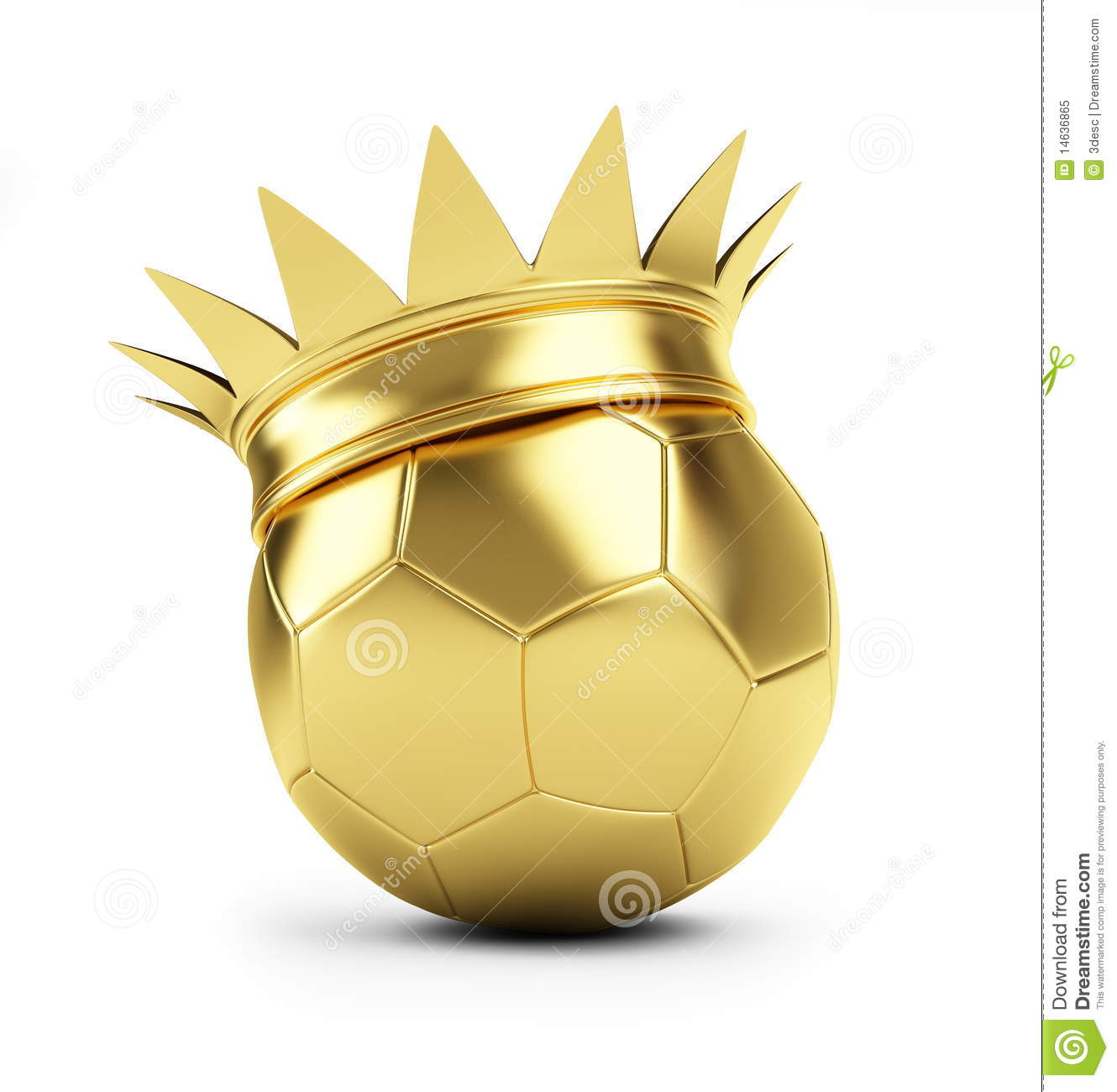 Gold Soccer Ball Crown Royalty Free Stock Photo - Image: 14636865