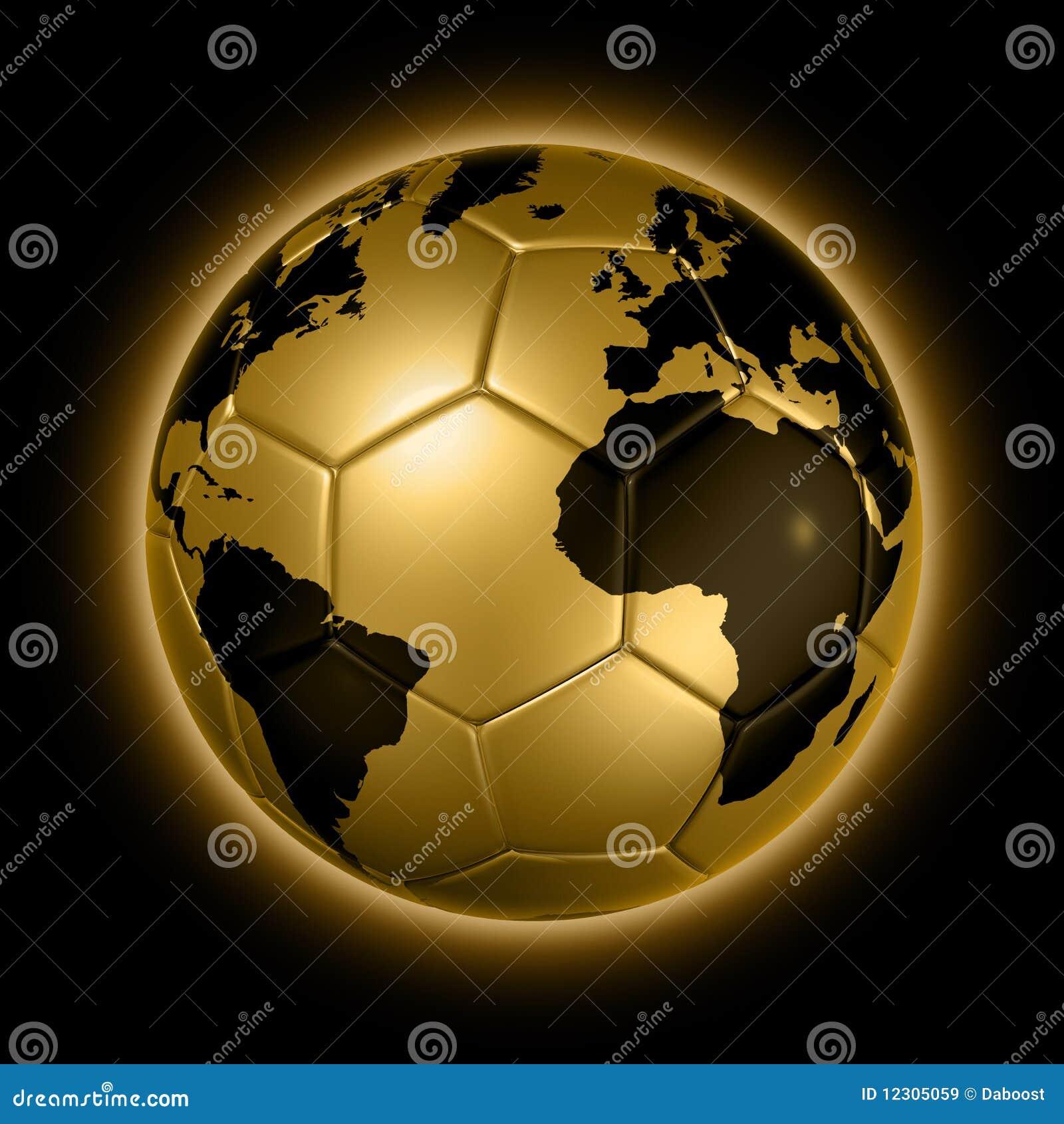 Gold soccer football ball world globe stock illustration gold soccer football ball world globe gumiabroncs Choice Image