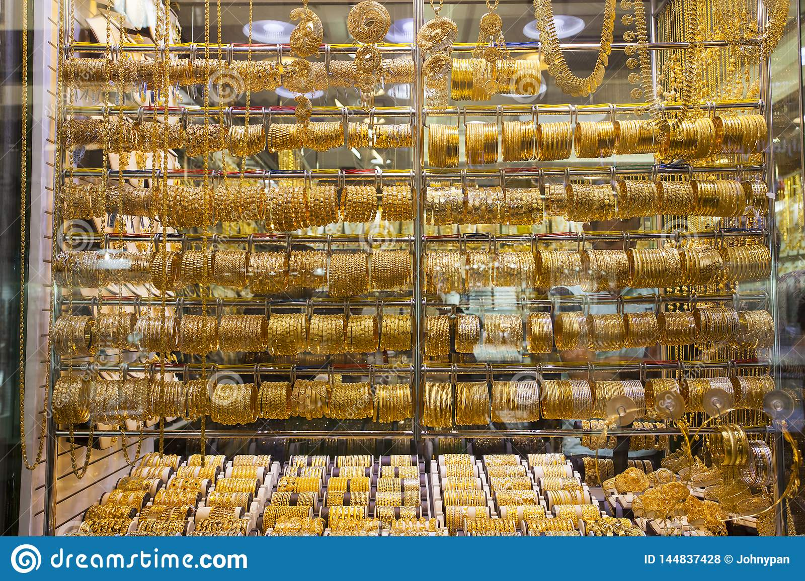 The Gold Souk Or Market In Dubai City Stock Photo - Image of