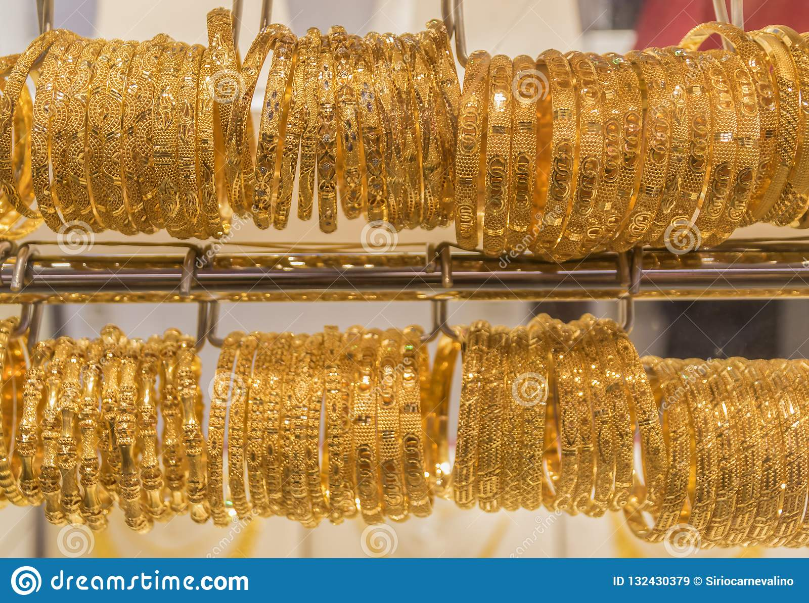 The Gold Souk, Old Town Dubai Stock Image - Image of