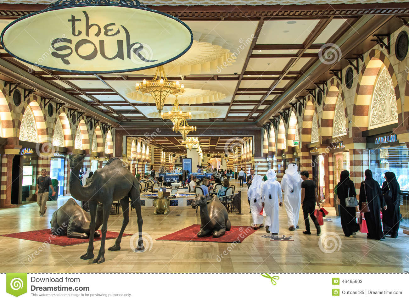 the gold souq in dubai mall world 39 s largest shopping mall based on total area editorial stock. Black Bedroom Furniture Sets. Home Design Ideas