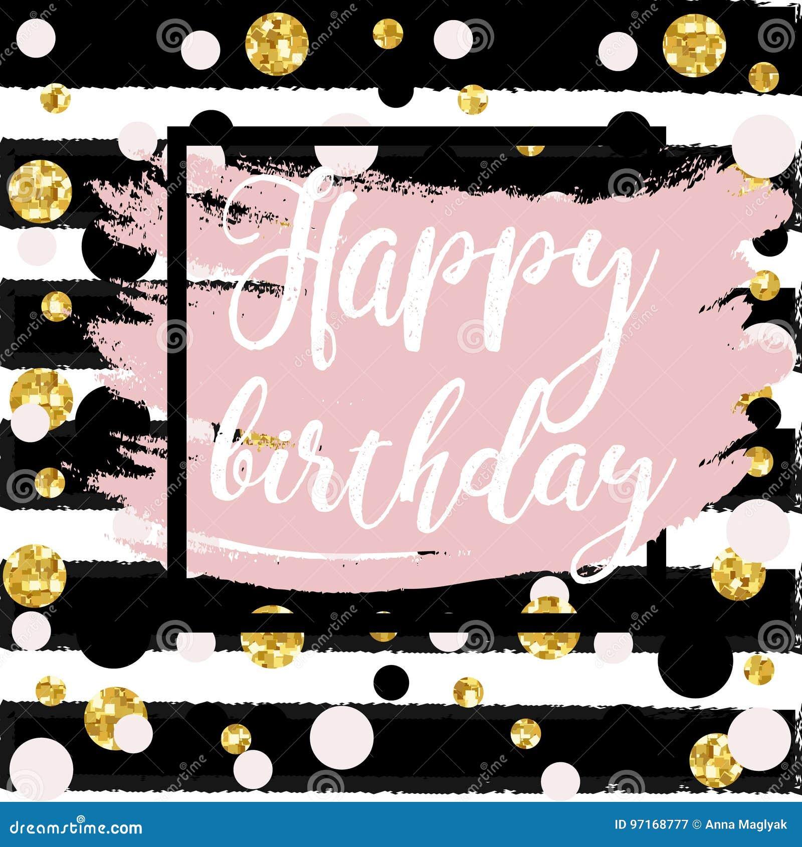 Gold Sparkles Background Happy Birthday Stock Illustration Illustration Of Font Background 97168777