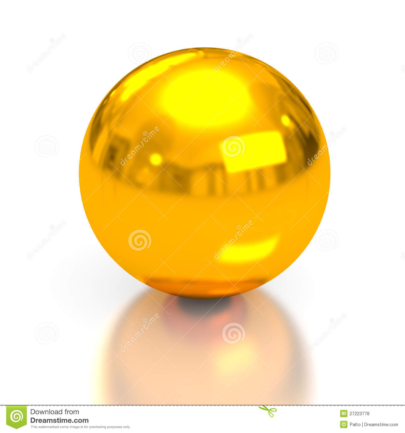 Gold Sphere Royalty Free Stock Photos - Image: 27223778