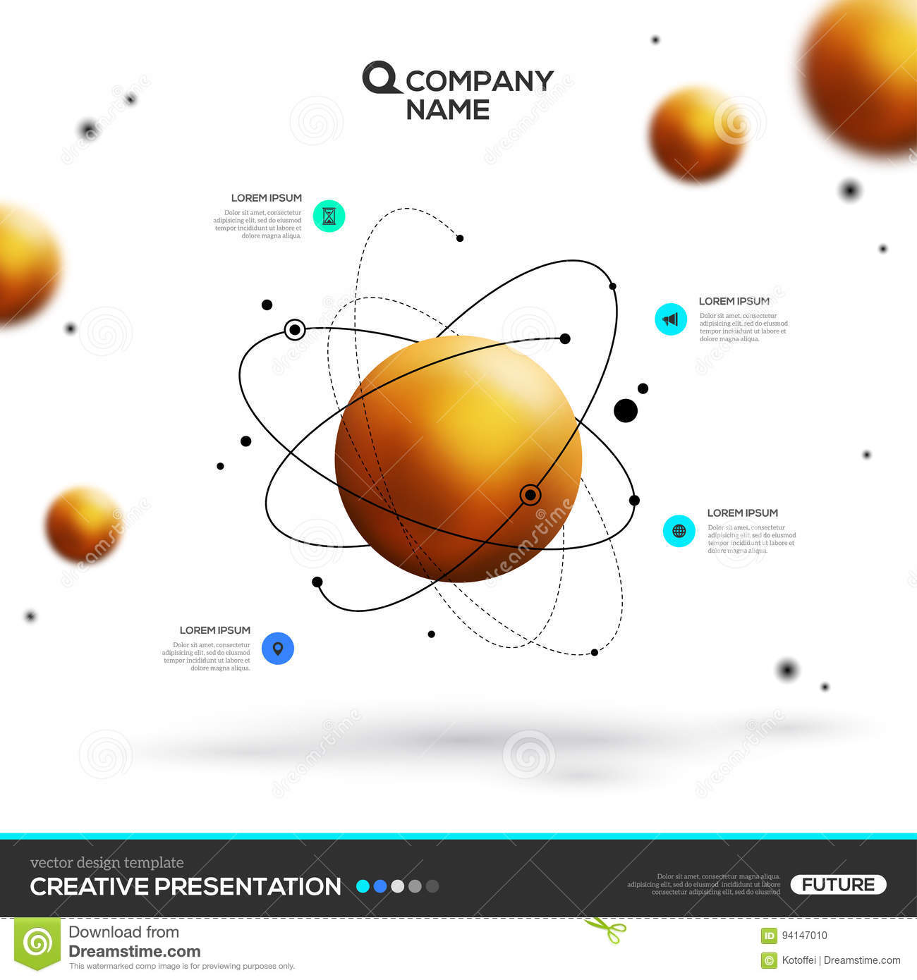 Gold sphere particles and atomic structure stock vector download comp ccuart Images