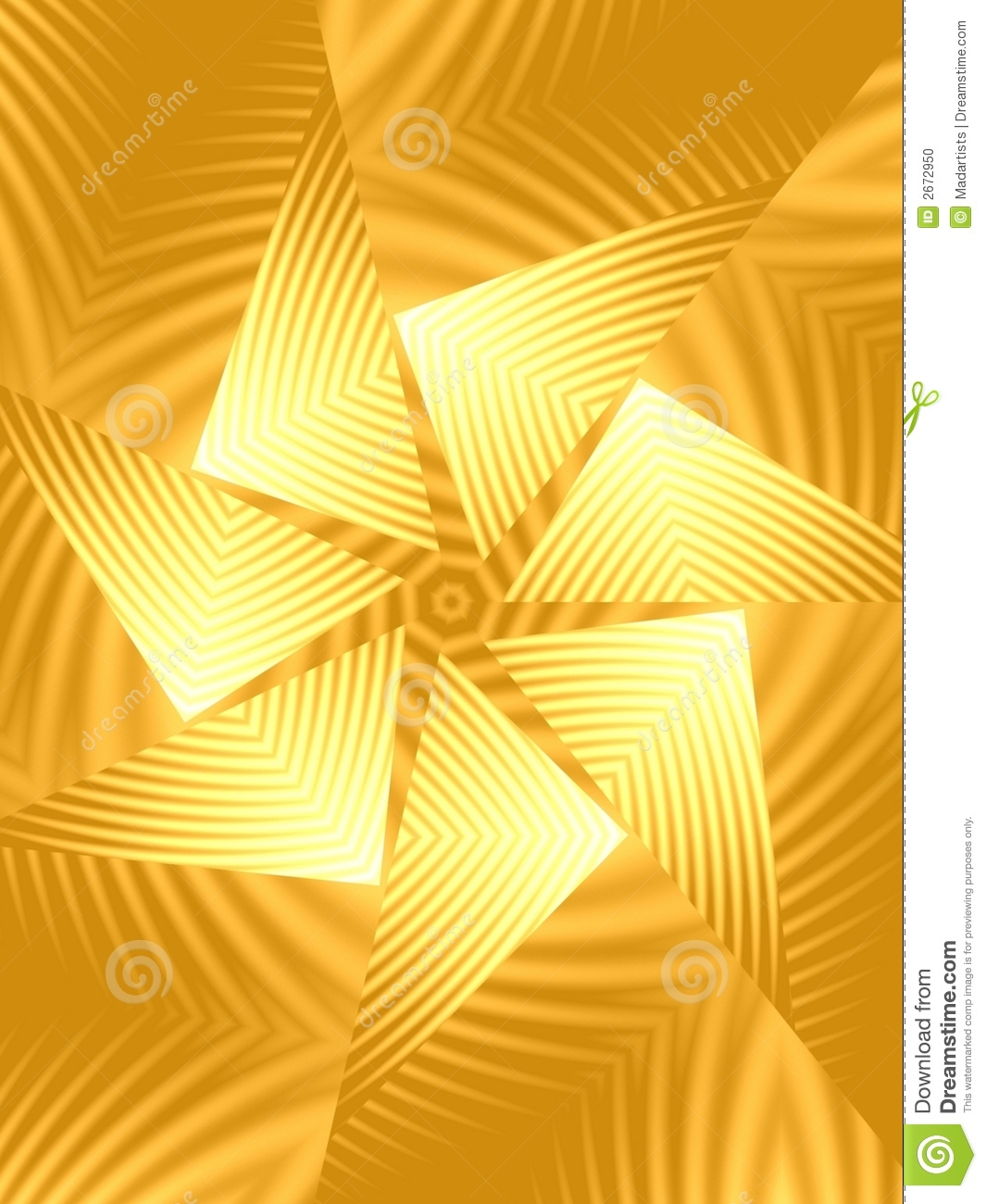 gold spinning triangle pattern stock photo image 2672950