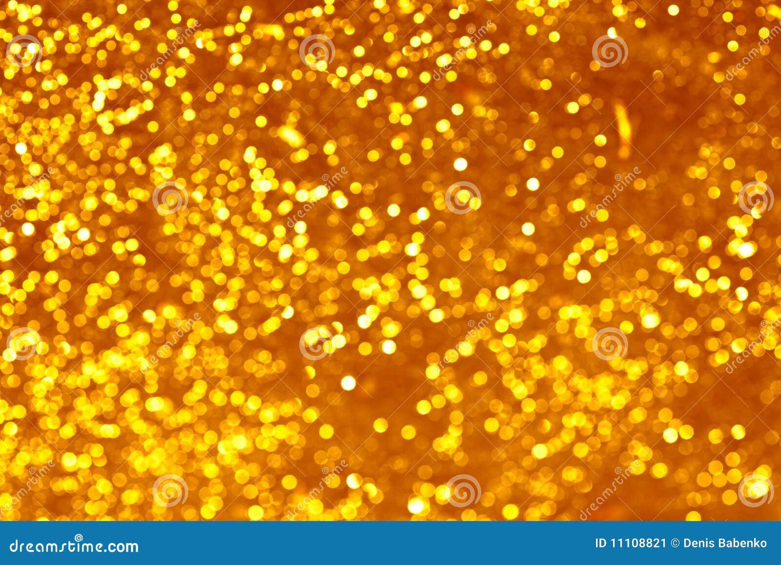 Gold spots bokeh