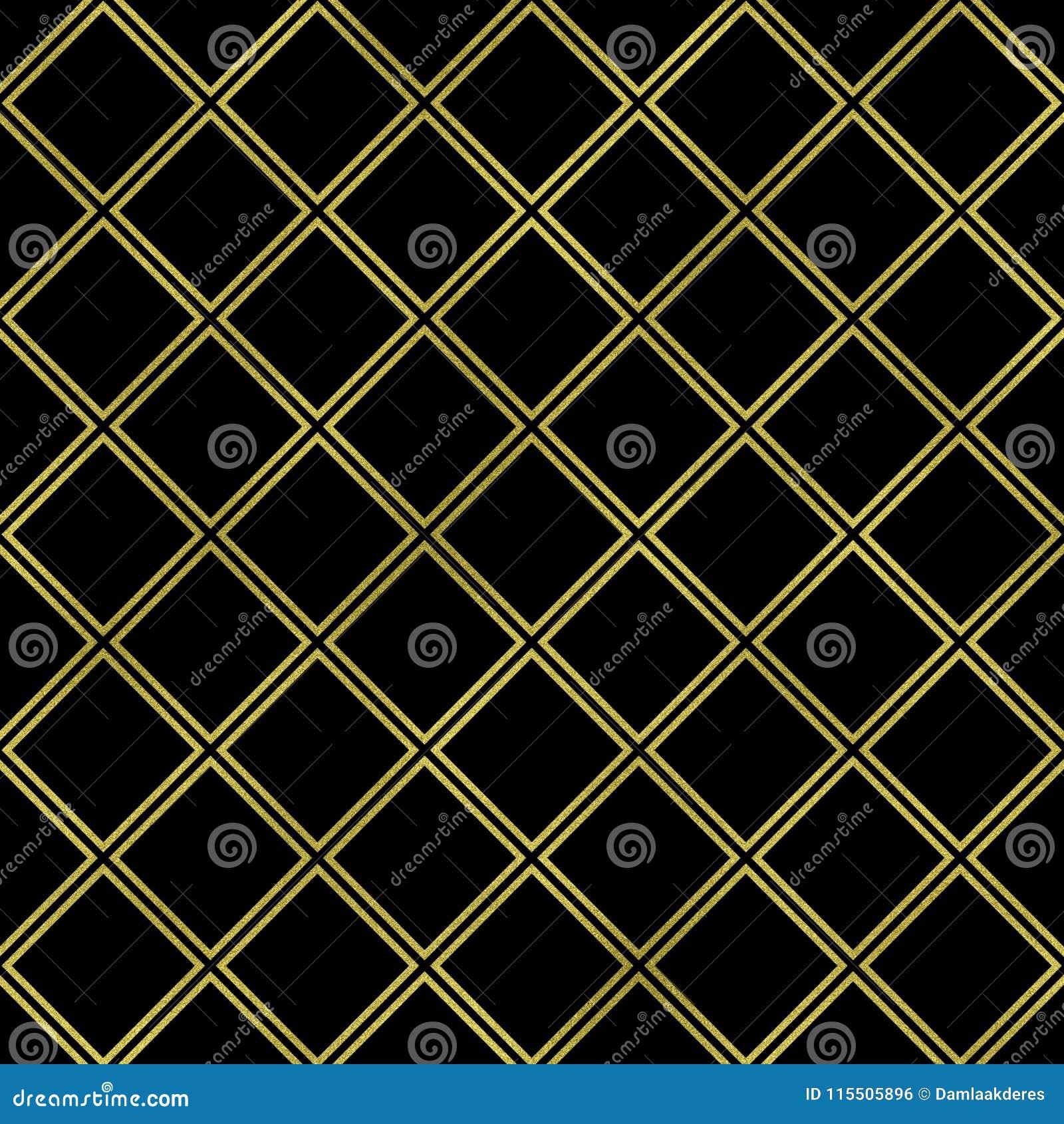 Gold Square On Black Background Gold Square Texture Glitter Geometric Pattern Glitter Geometric Wallpaper Stock Illustration Illustration Of Vectorial Background 115505896