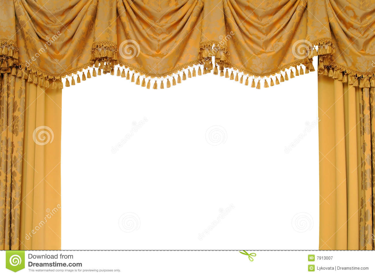 Purple stage curtains - Gold Stage Curtain Royalty Free Stock Photography Image