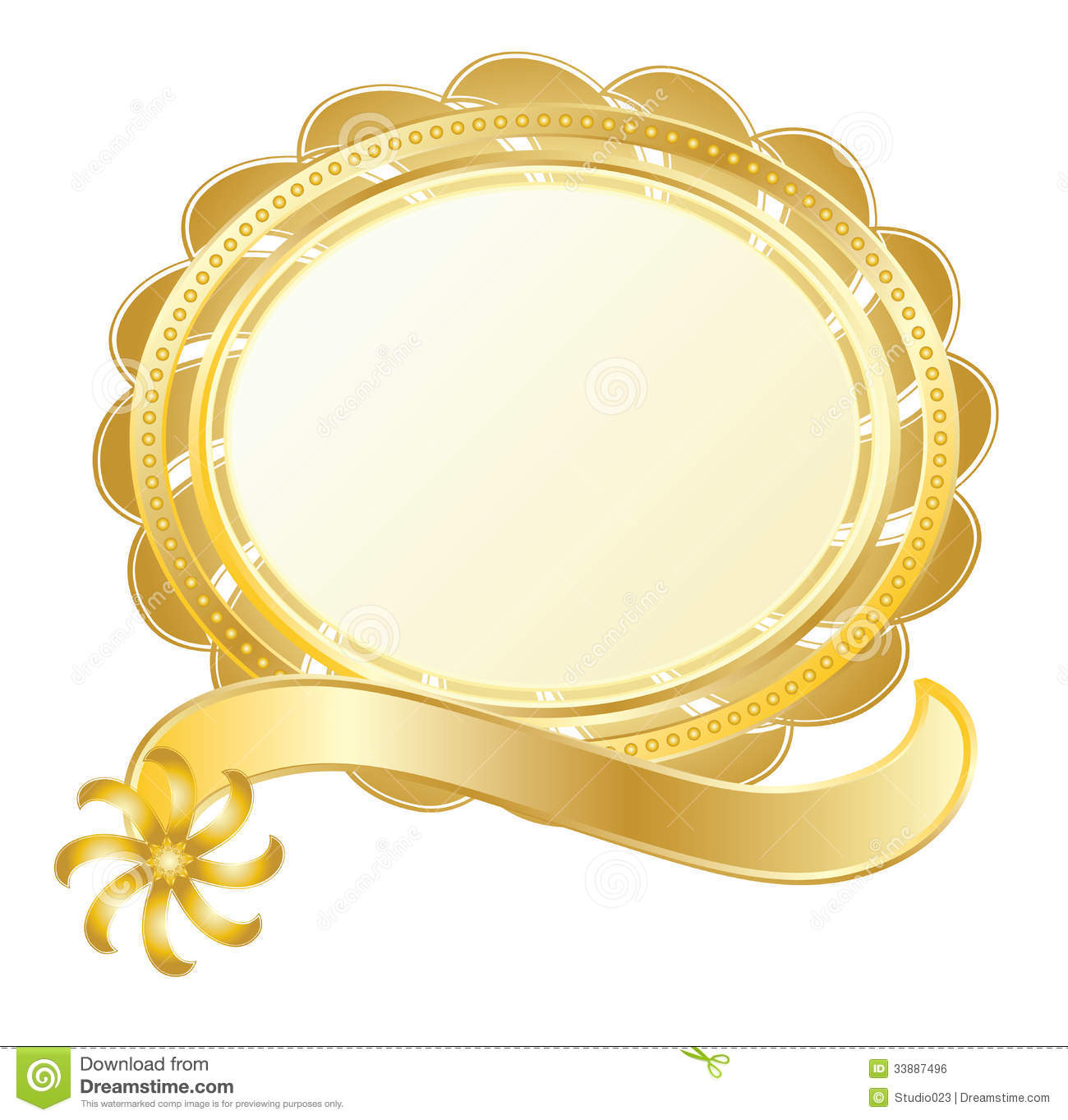 Gold Stamp Royalty Free Stock Image - Image: 33887496
