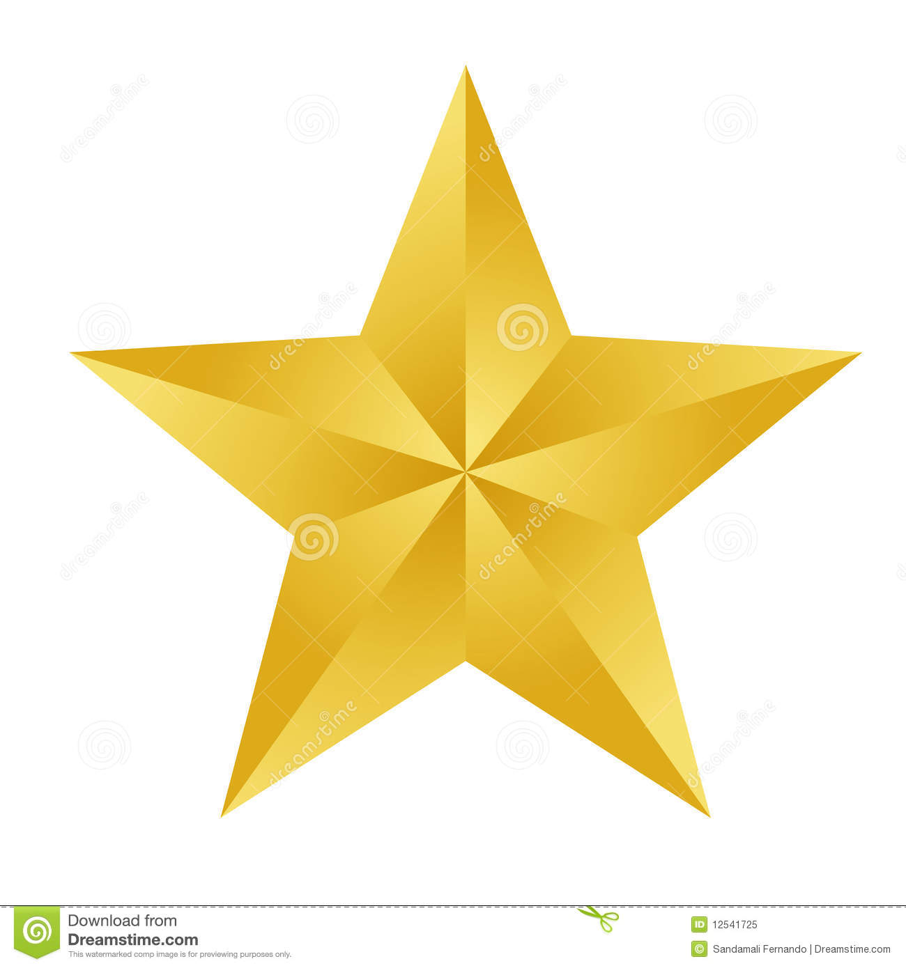 Gold star stock vector illustration of colors