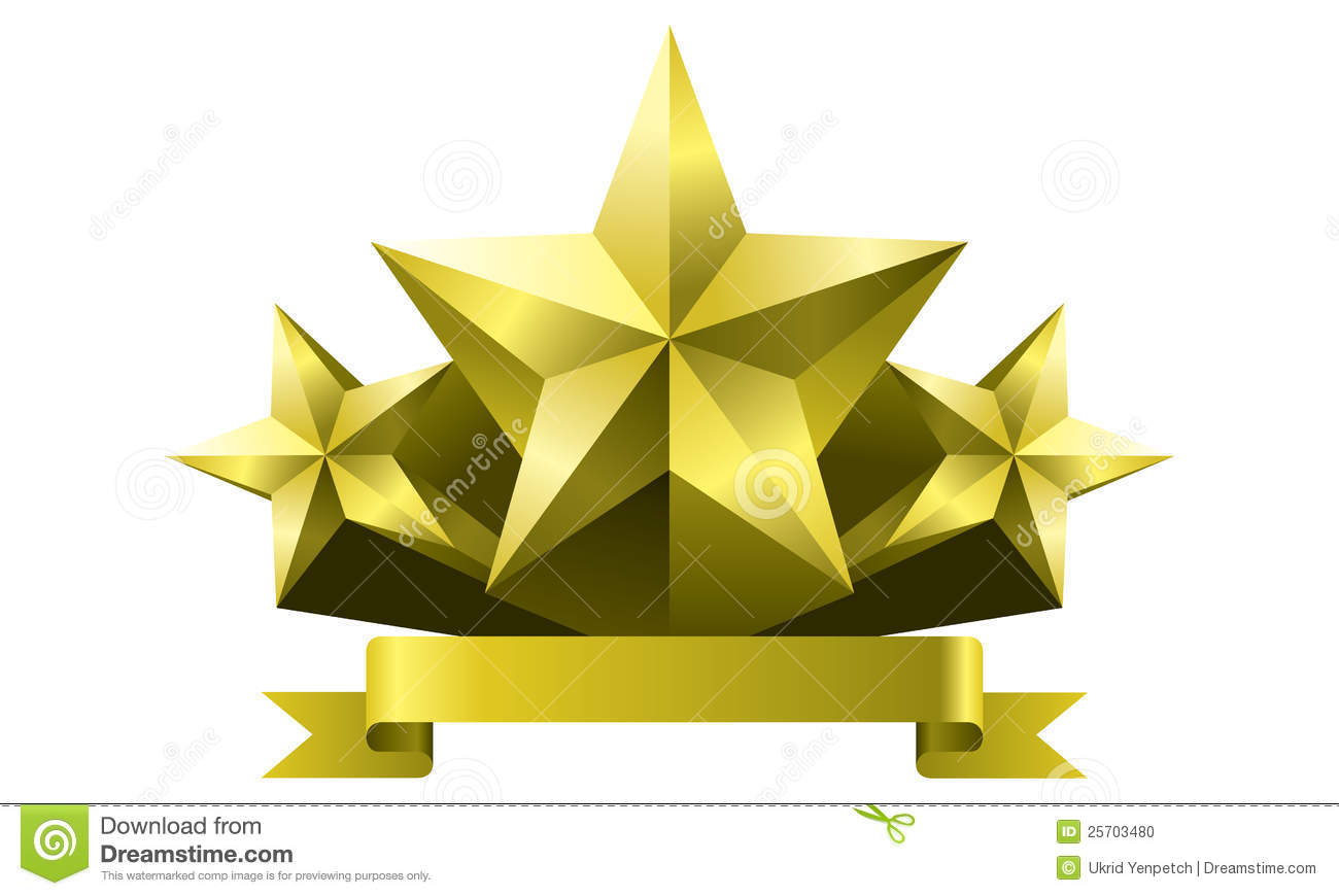 Gold star in ai versions (ai 10), vector format.