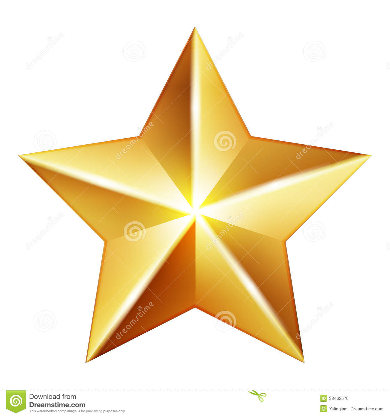 Gold Star Stock Photo - Image: 38462570