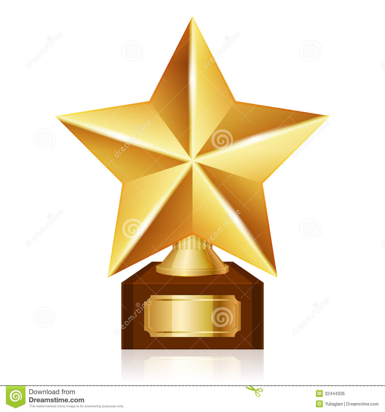 gold star award stock vector illustration of guarantee 32444326