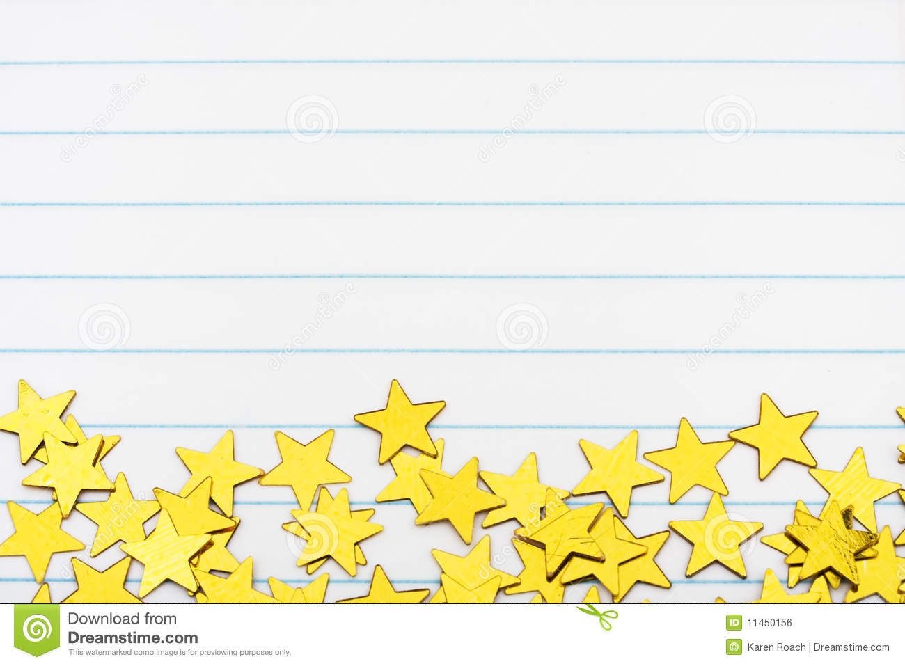 Gold Star Border Royalty Free Stock Image - Image: 11450156