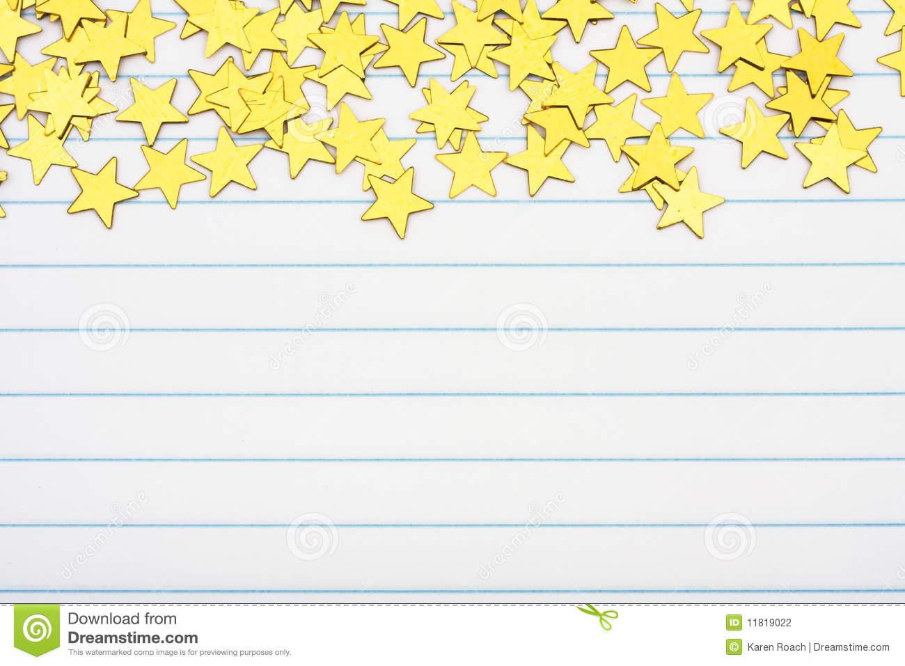 Gold Star Border Stock Photography Image 11819022