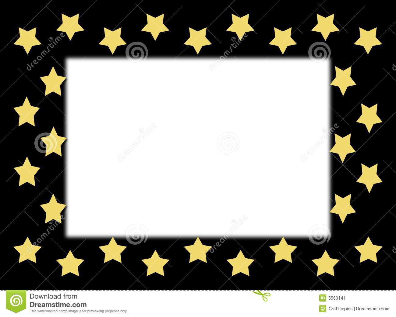 Gold Star Border Stock Image - Image: 5560141