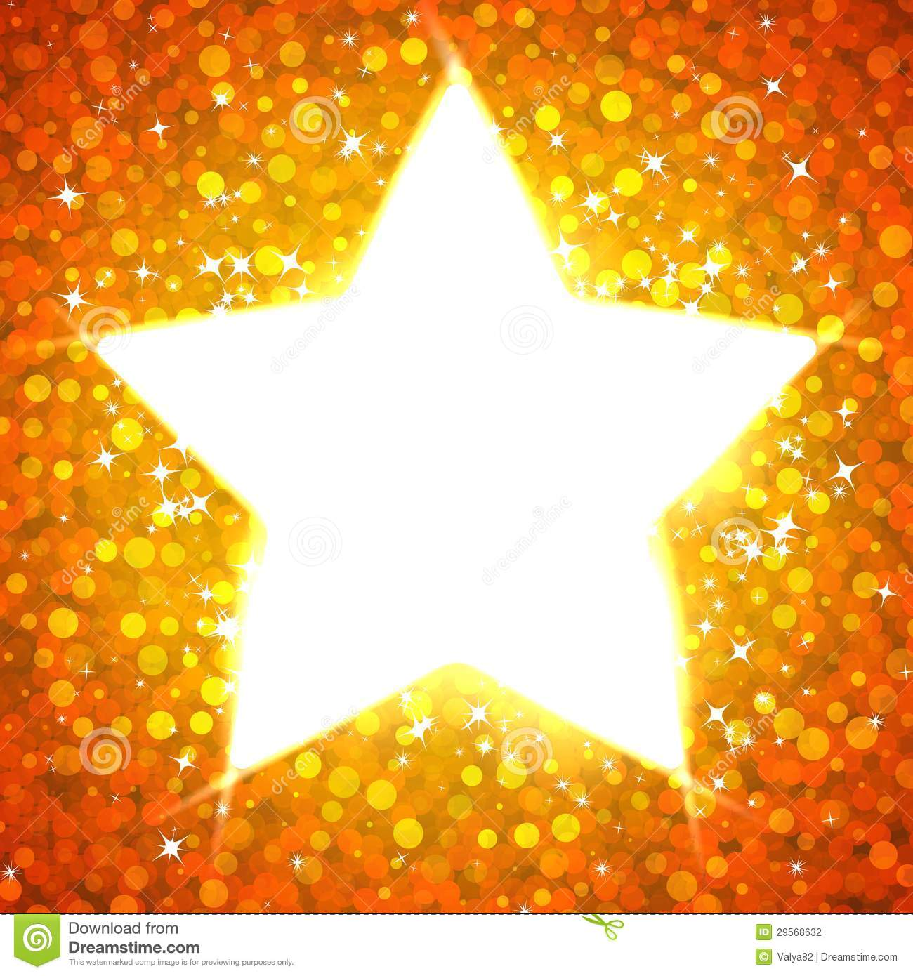 Gold Star Card Template Stock Photography - Image: 29568632