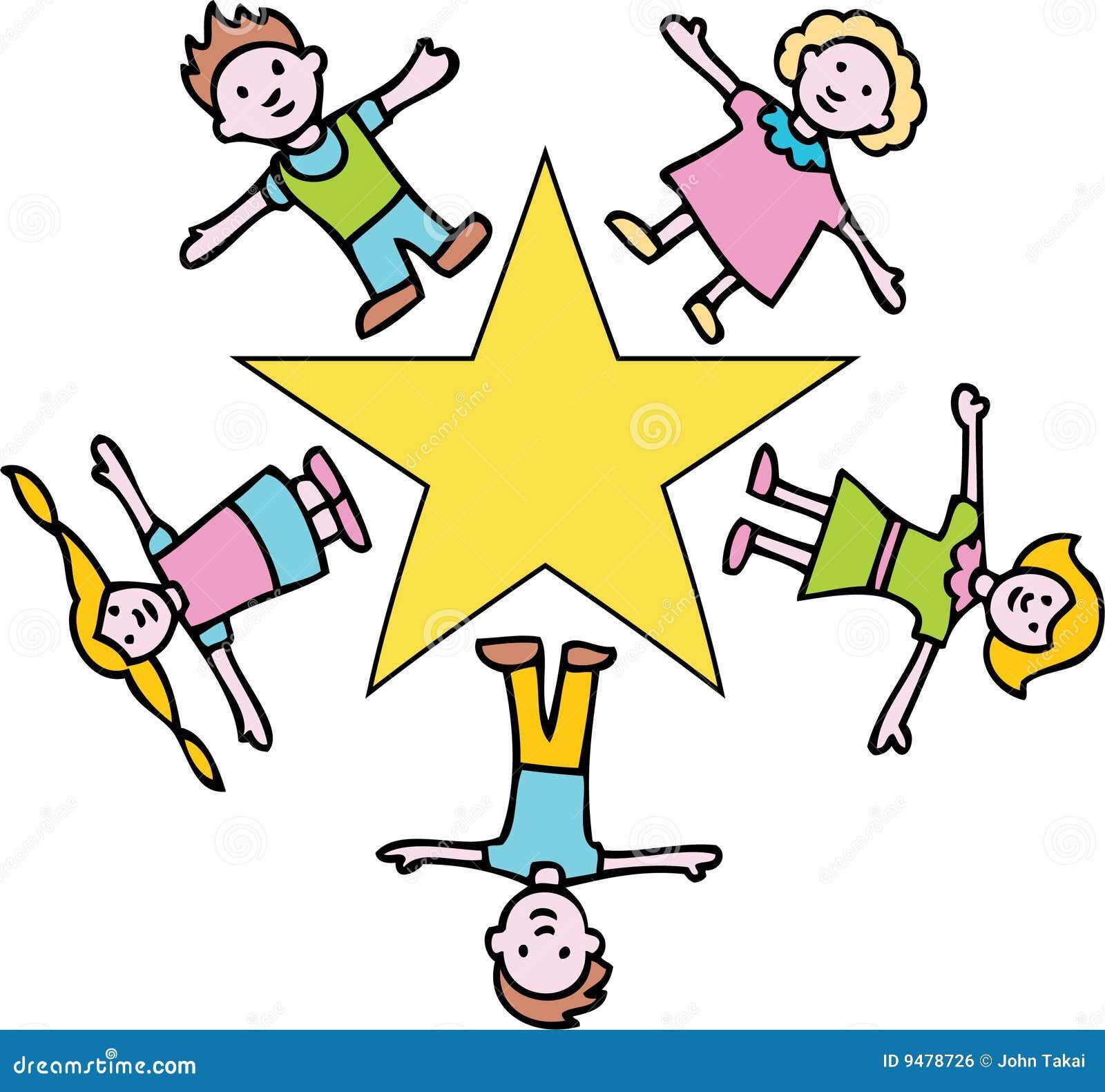 Gold star children stock vector image of child for Images of stars for kids