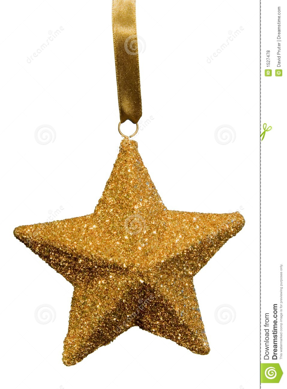 Gold Star Christmas Ornament Royalty Free Stock Photos - Image ...